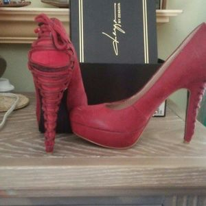 Hot red shoe.